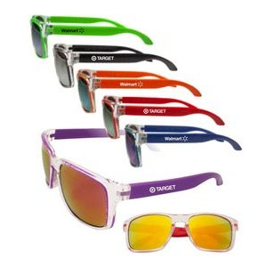 Two-Tone Mirrored Sunglasses
