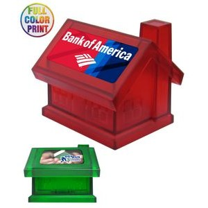 House Shaped Coin Bank Box - Full Color Dome Print