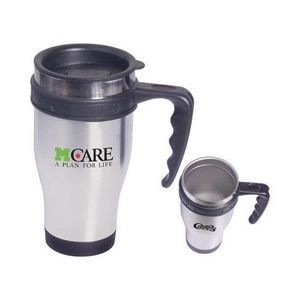 Stainless Steel Large Grip Mug w/ Closure Top