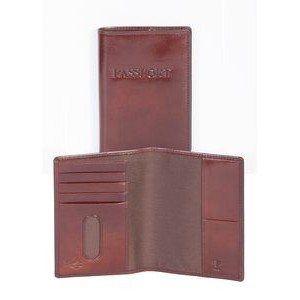 Italian Leather Passport Case & Wallet w/ RFID Theft Protection