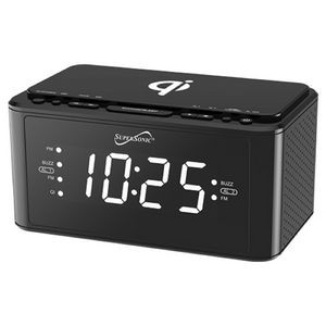 Clock Radio with Qi Wireless Charging Station